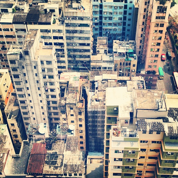 Maximum concrete. The #urban #decay of #kowloon #hongkong from above. #hkig