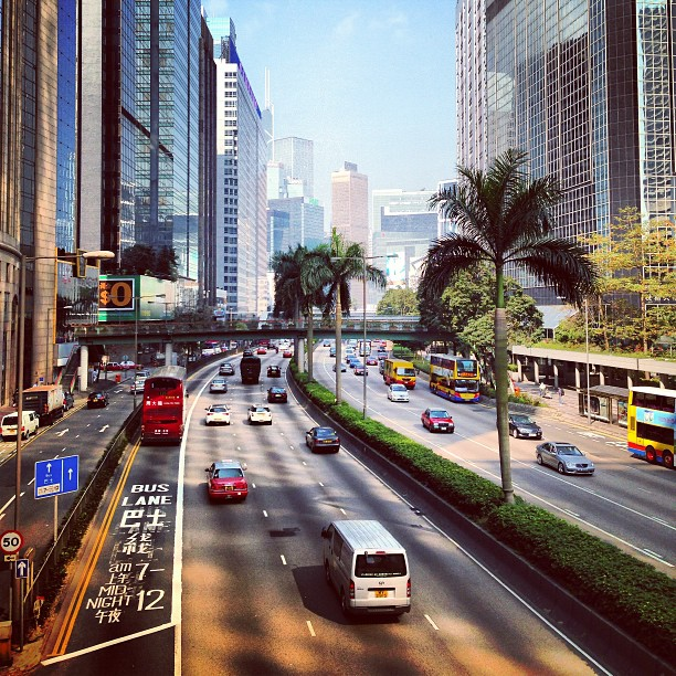 The drive from #WanChai to #Central on #hongkong island.