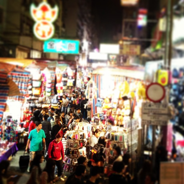 The ever crowded #mongkok #ladies #street #market. #hongkong #hkig
