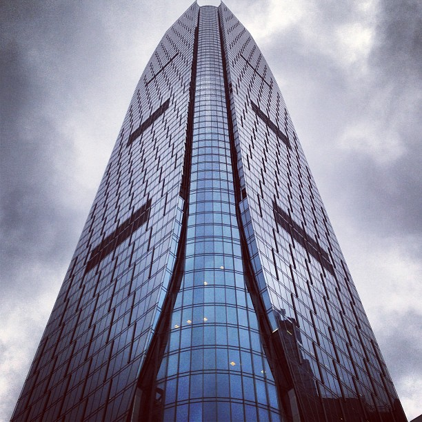 #glass and #steel rising up into a #stormy sky. #buildings #hongkong #hkig
