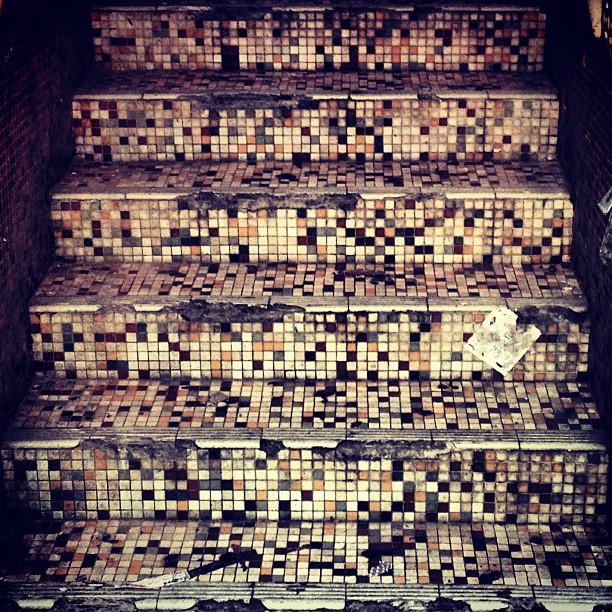 #pixel #patterns of old tile staircases. #hongkong #hkig