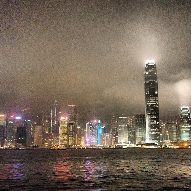 A hazy #hongkong #harbour #night scene. #hongkong #hk #hkig