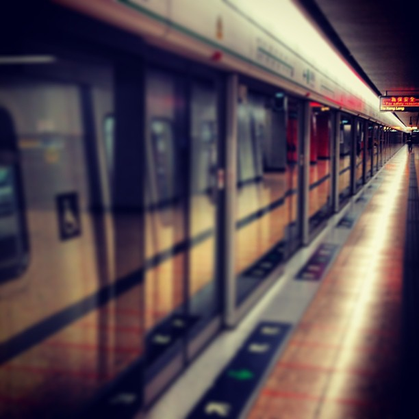 Empty #mtr #train #station. #hongkong #hk #hkig