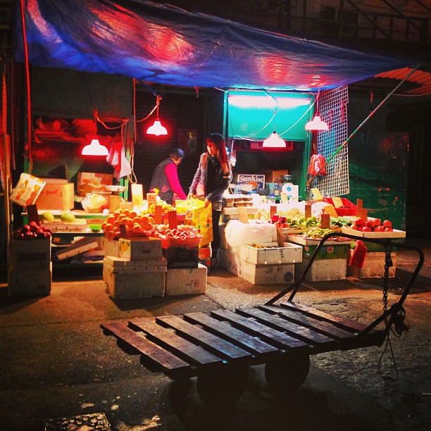 The #fruit #stall at the #street #market at #night. #hongkong #hk #hkig