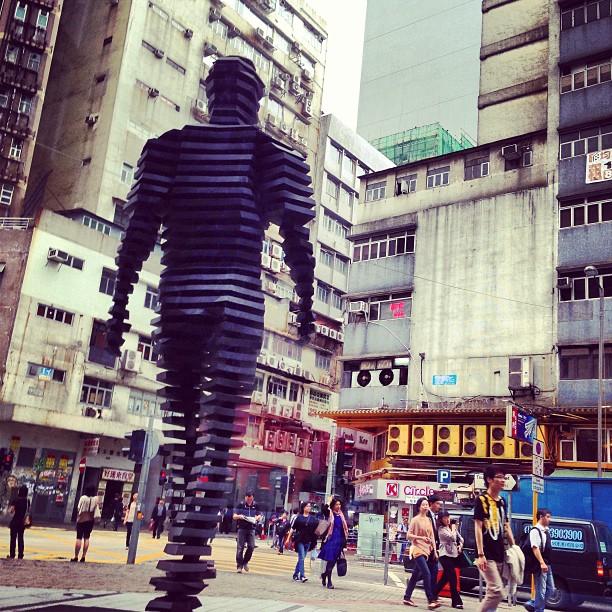 #art and the #streets. #pedestrians #walking in #KwunTong #hongkong. #hk #hkig