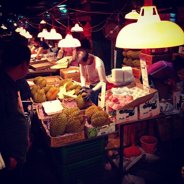 #durian for sale at the #fruit #stall in #mongkok. #hongkong #hk #hkig