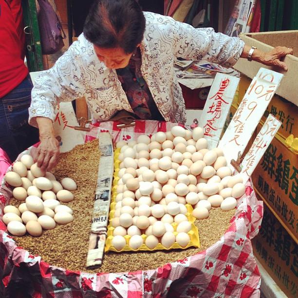 #eggs for sale in the #market. #hongkong #hk #hkig