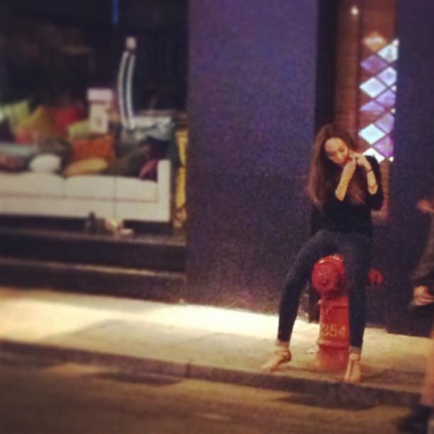 #lady on a #firehydrant at #night. #hongkong #hk #hkig