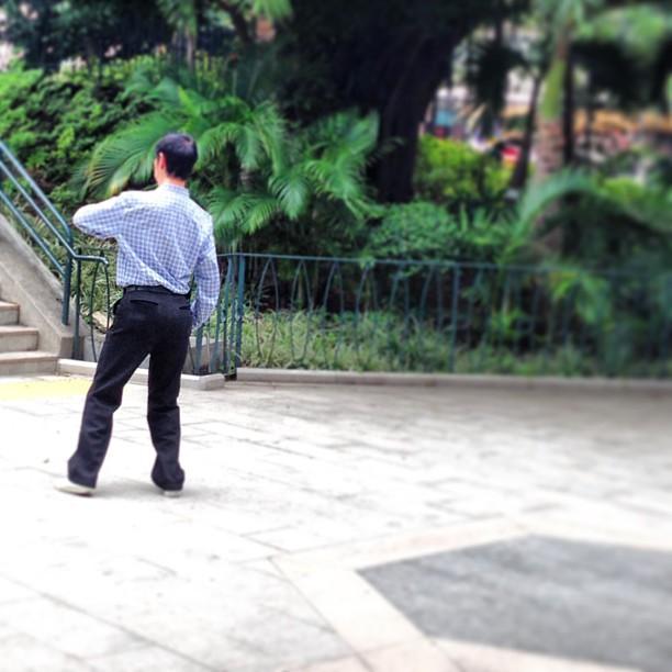 #man #dancing #alone in the #park. #hongkong #hk #hkig