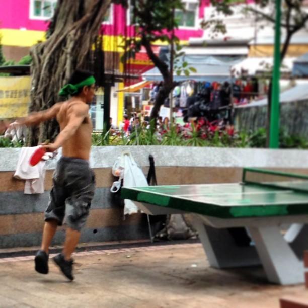 #man playing #pingpong in a #park. #hongkong #hk #hkig