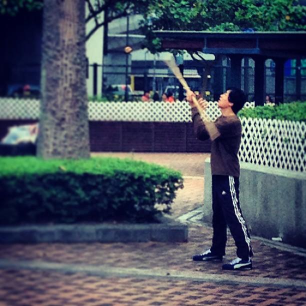 #man practicing #martialarts - the #staff. #hongkong #hk #hkig