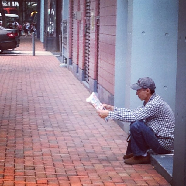 #man #reading #newspaper. #hongkong #hk #hkig