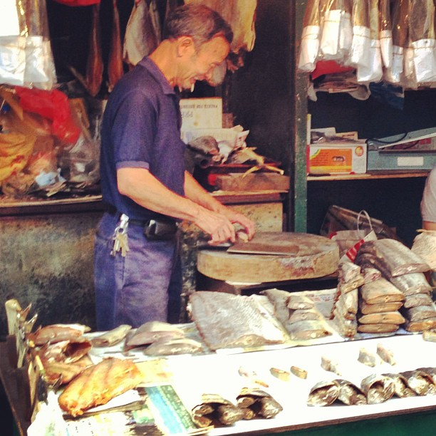 #salted #fish #stall in the #market. #hongkong #hk #hkig