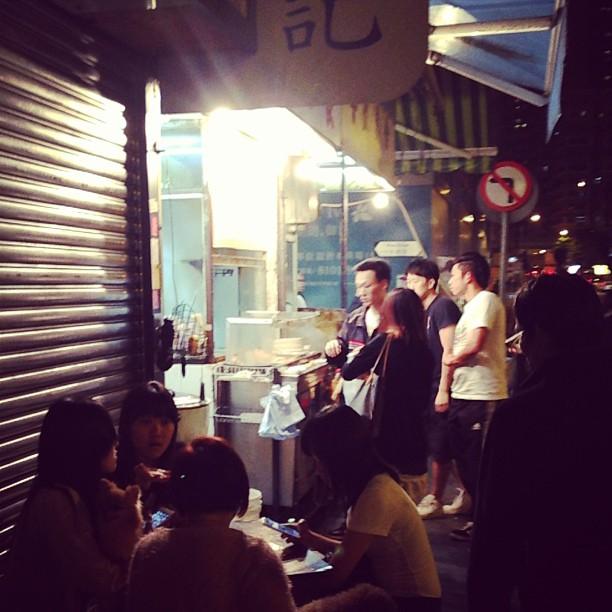 #streetfood #stall in the dark of #night in #taikoktsui. #hongkong #hk #hkig