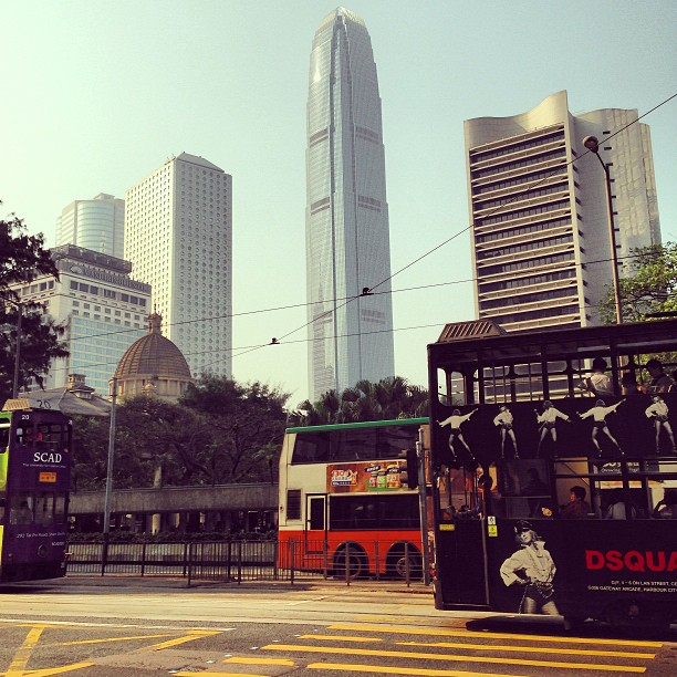 #tram and #ifc #tower. #hk #hongkong #hkig