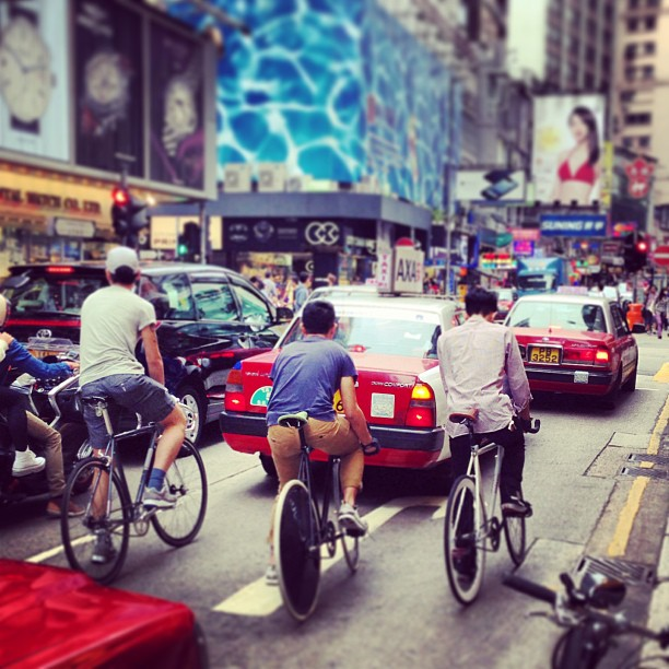#urban #cycling - #fixies on the #streets of #hongkong. #hk #hkig #bicycle