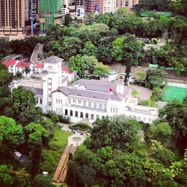 Aerial view of #Government #House in #central. #hongkong #hk #hkig