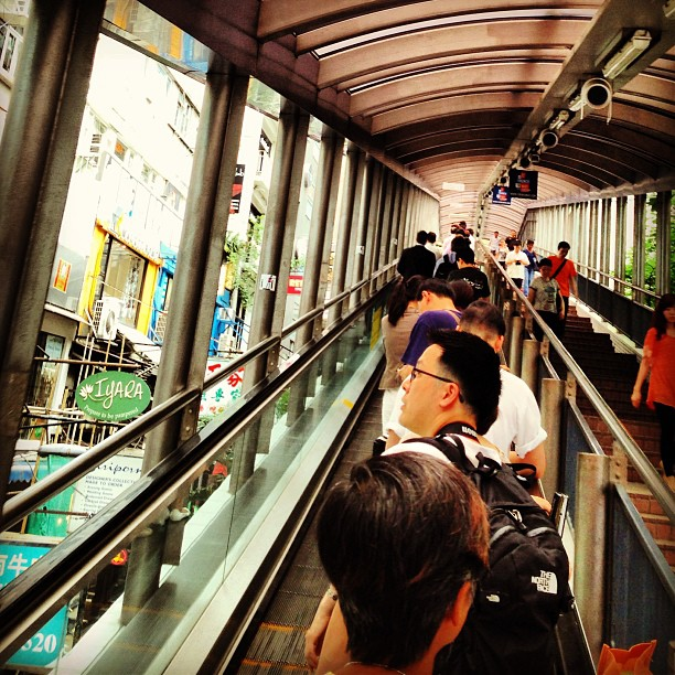 Ascending the #central #escalator. #hongkong #hk #hkig