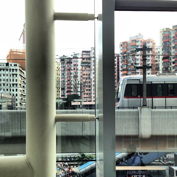 #MTR #train through #shopping #mall #window. #hongkong #hk #hkig