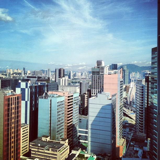 Nice #blue #sky day in #kowloon #city. #hongkong #hk #hkig