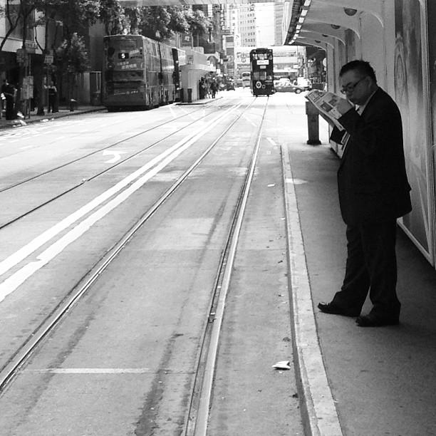Slice of #life - #waiting for the #morning #tram. #hongkong #hk #hkig