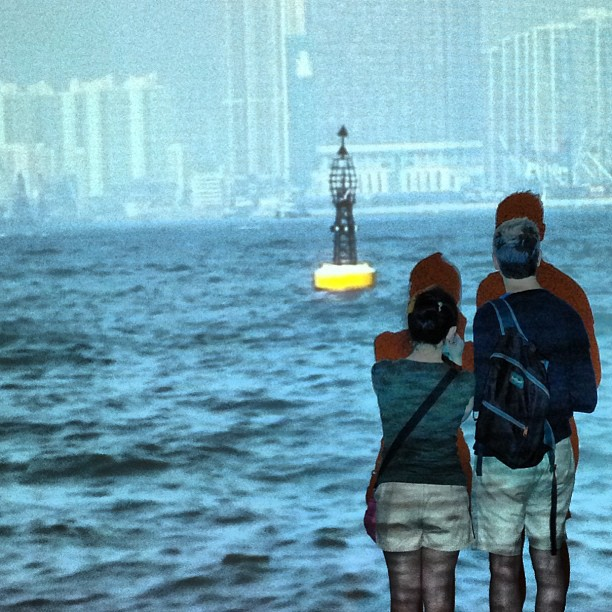 Standing in the #sea. #art #hongkong #hk #hkig