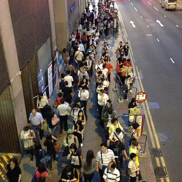 The #bus #queue after work. #hongkong #hk #hkig
