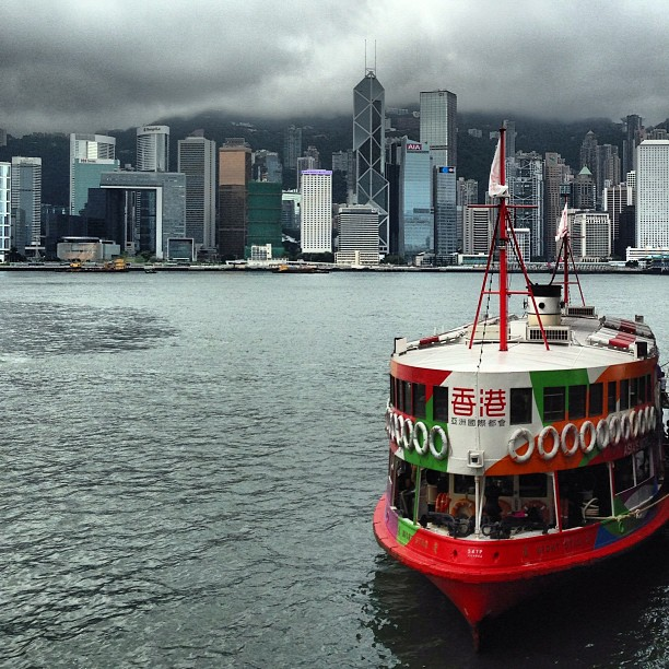 The #star #ferry against a backdrop of #hongkong island. #hk #hkig