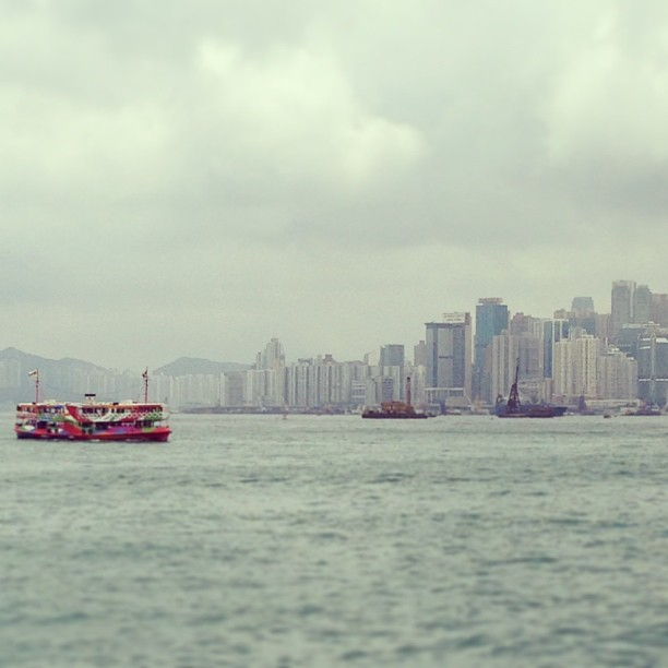 The #star #ferry is a splash of colour on a dull day. #hk #hongkong #hkig