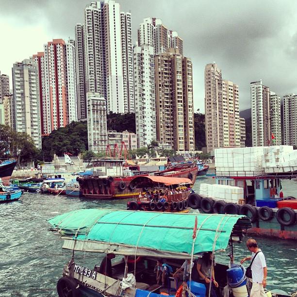 #aberdeen and #apleichau. #sea, #boats and #apartments. #hongkong #hk #hkig