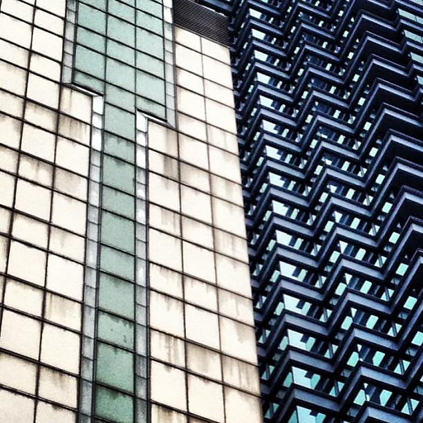 #abstract #patterns formed by #buildings of #glass and #steel. #hongkong #hk #hkig