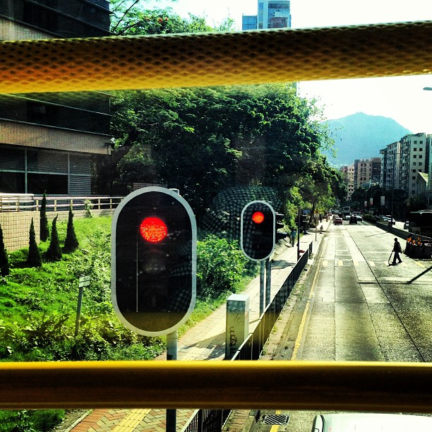 #abstract - view from the upper deck of a #doubledecker #bus. #hongkong #hk #hkig