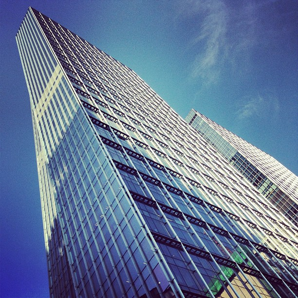 #glass and #steel #building against a #blue #sky. #hongkong #hk #hkig
