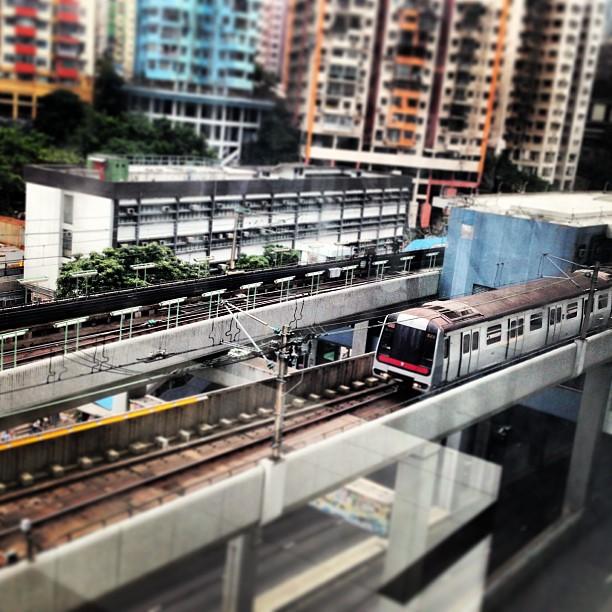 #mtr #train leaving the #station. #hongkong #hk #hkig