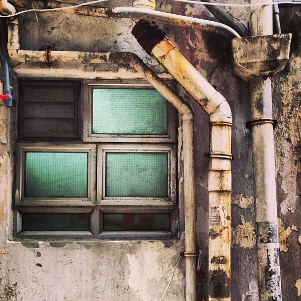 #urban #decay. #window and #pipes. #hongkong #hk #hkig