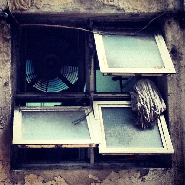 #urban #decay. #window #exhaust #fan and #mop. #hongkong #hk #hkig