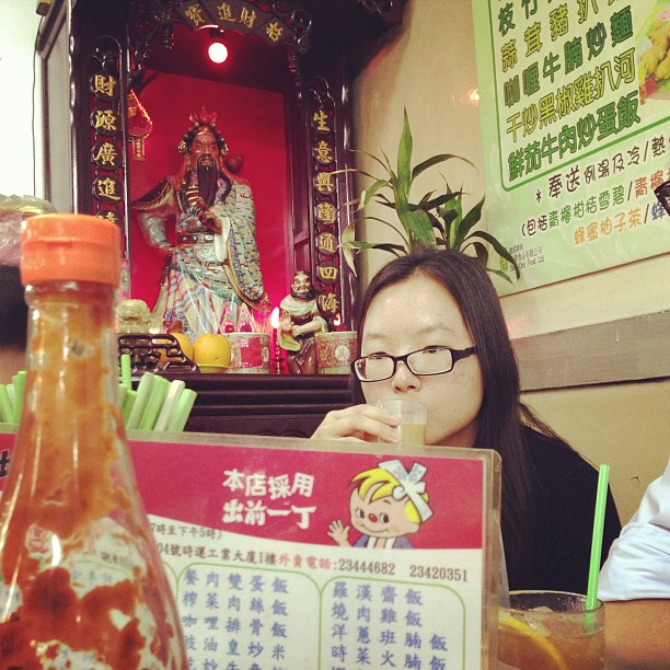 An old school #diner in #kwuntong - #Chinese #gods watch over your #lunch. #hongkong #hk #hkig