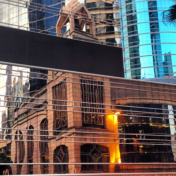 Illusion - #reflection of a #building in #glass. #hongkong #hk #hkig