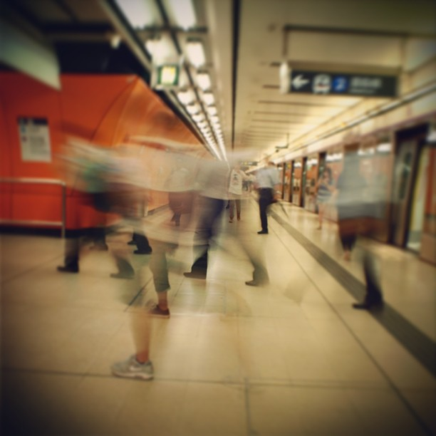 #MTR #ghosts - #commuters rush to change #trains at #northhpoint #station. #hongkong #hk #hkig