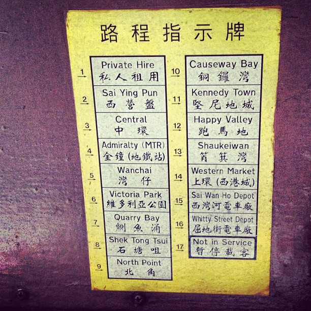 Part 2: #hongkong #tram #sign operations. Refer to #chart to see which sign to crank to. #hongkong #hk #hkig