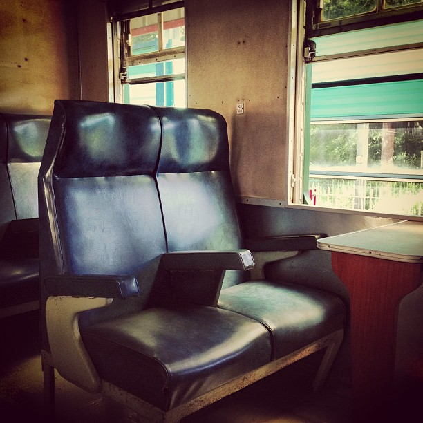 Step into the #past - an #old #KCR #train #firstclass #carriage. #hongkong #hk #hkig
