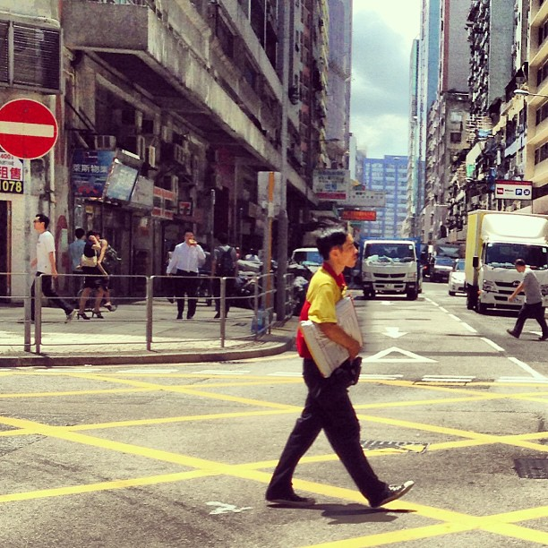 The #dhl #delivery #man on his rounds. #hongkong #hk #hkig