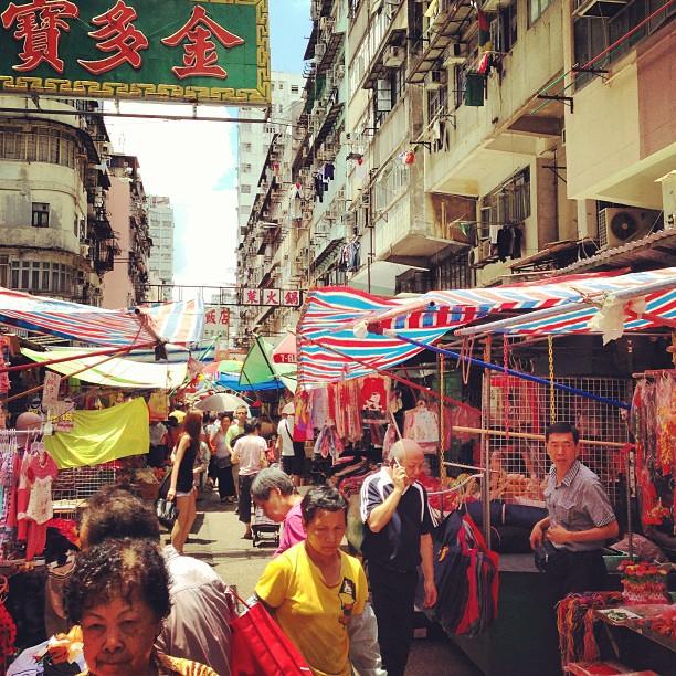 The #mongkok #street #market looks colorful today. #hongkong #hk #hkig