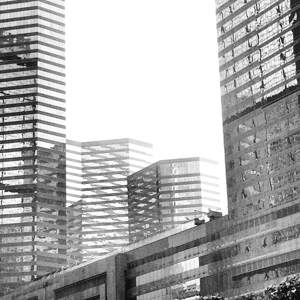 #abstract #mono - a #grey #wanchai with #sharp #angles and #lines. #buildings of #glass and #steel. #hongkong #hk #hkig #cityscape #skyline