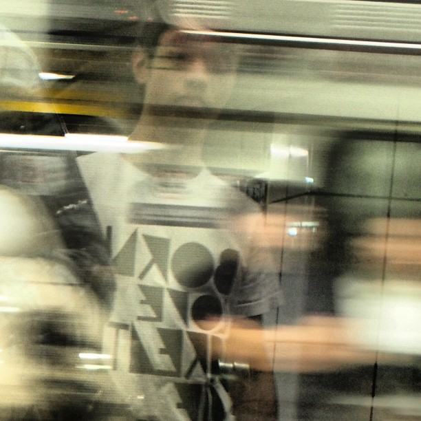 #abstract - #reflection of a #man in a #speeding #mtr #train. #hongkong #hk #hkig