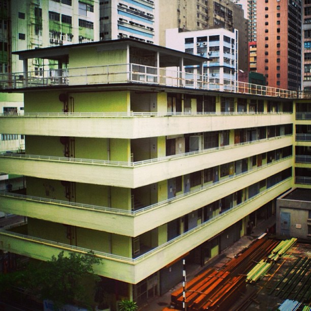#architecture - #old public housing #building in #chaiwan. #apartments #hongkong #hk #hkig