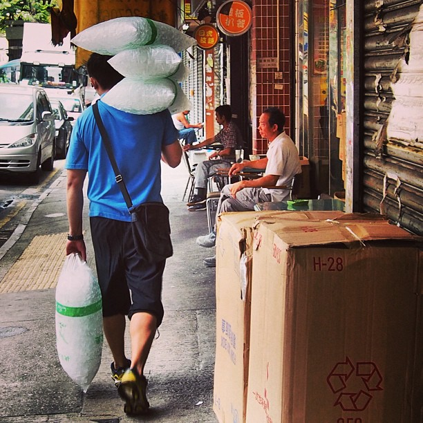#hot day? Call the #ice #delivery #man. Hope he doesn't give you the #cold shoulder. #hongkong #hk #hkig