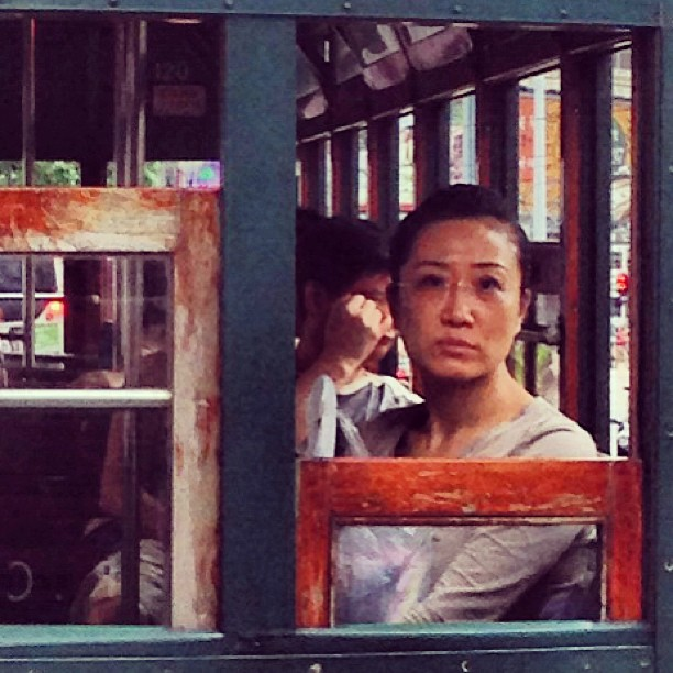 #portrait - #lady on a #tram. #hongkong #hk #hkig