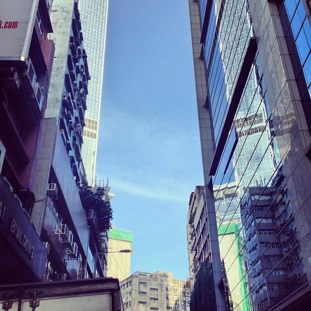#slice of #sky - hemmed in by #buildings on either side. #hongkong #hk #hkig