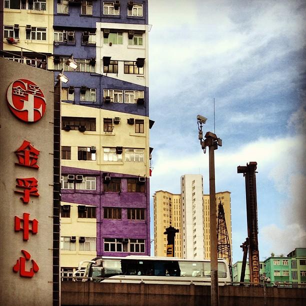 #tokwawan scene - #buildings, #highway #bus. #hongkong #hk #hkig